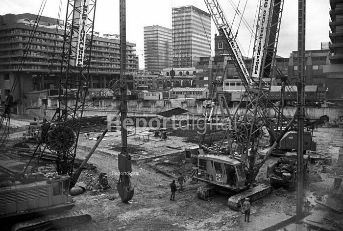 Barbican under construction, building site, London 1972 - NLA - 1972-06-21