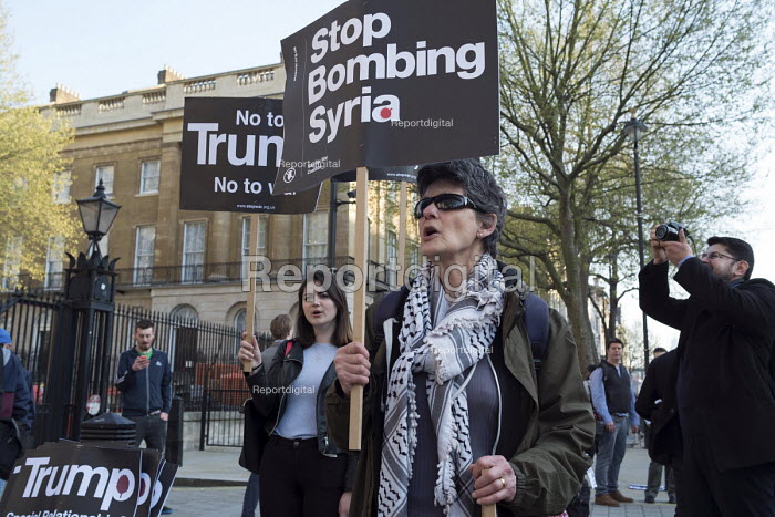 Stop Bombing Syria, Stop The War Coalition protest, Downing Street, London - Philip Wolmuth - 2017-04-07