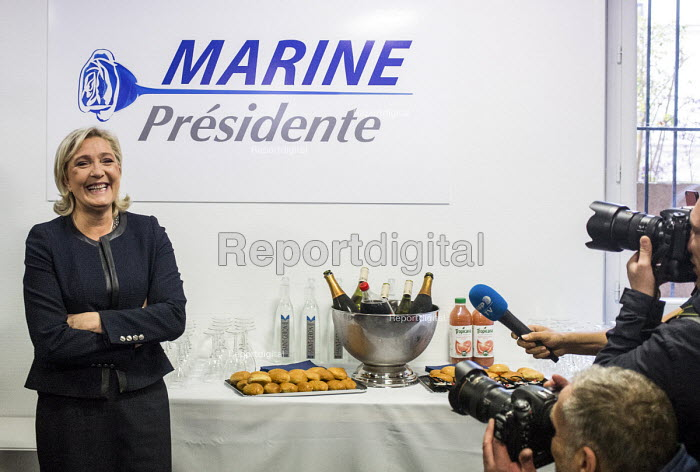 Marine Le Pen, candidate FN, National Front presidential election 2017, at her campaign headquarters, Paris, France - Romain Beurrier - 2016-11-16