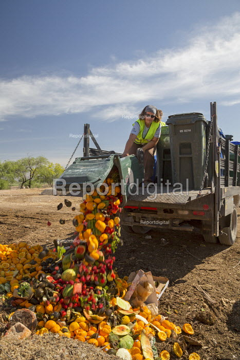 Tucson, Arizona - The Compost Cats, a University of Arizona student organization, composts food waste from the city of Tucson, diverting it from landfills. The compost is sold for use on farms and gardens. - Jim West - 2017-04-16