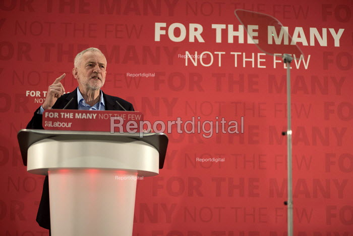 Jeremy Corbyn MP speaking, Labour Party election press conference, Tower Hamlets, London - Philip Wolmuth - 2017-04-29