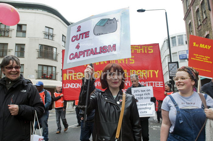 2017 May day Demonstration London Women on the march - Stefano Cagnoni - 2017-05-01