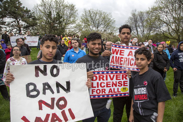 Detroit, Michigan USA May Day Rally for Immigrant Families - Jim West - 2017-05-01
