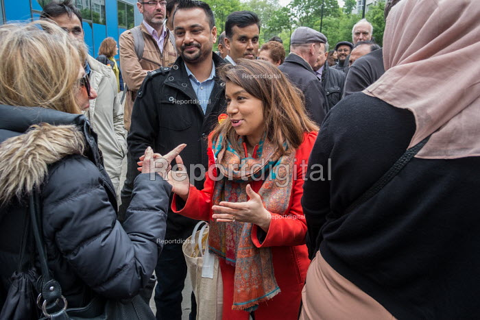 Tulip Siddiq launching her general campaign for Hampstead and Kilburn, the tenth most marginal Labour parliamentary seat in the UK. Swiss Cottage, London - Philip Wolmuth - 2017-05-06