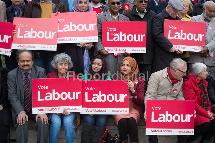 Tulip Siddiq supporters launching her general campaign for Hampstead and Kilburn the tenth most marginal Labour parliamentary seat in the UK. Swiss Cottage, London. - Philip Wolmuth - 2017-05-06
