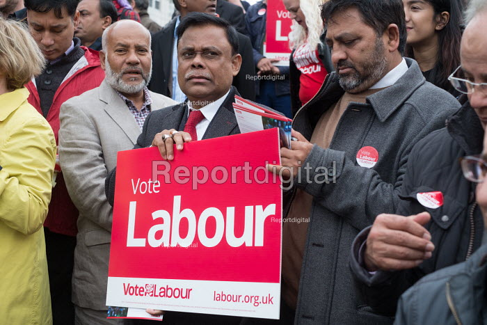 Tulip Siddiq supporters launching her general campaign for Hampstead and Kilburn, the tenth most marginal Labour parliamentary seat in the UK. Swiss Cottage, London. - Philip Wolmuth - 2017-05-06