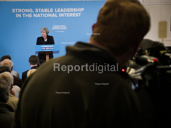 Theresa May Conservatives being filmed speaking to supporters, General election campaign, Linskill Centre, North Shields - Mark Pinder - 2017-05-12