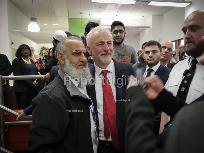 Jeremy Corbyn meeting supporters, Labour Party General Election 2017 manifesto launch, Bradford - Mark Pinder - 2017-05-16