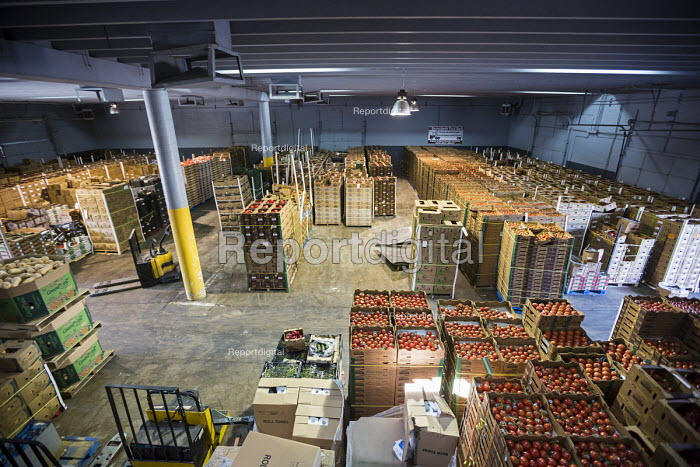 Nogales, Arizona, USA Borderlands Food Bank warehouse. It distributes 30 to 40 million pounds of produce each year that would otherwise end up in landfill - Jim West - 2017-04-17