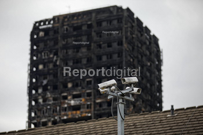 CCTV and Grenfell Tower Fire, West London. - Jess Hurd - 2017-06-22