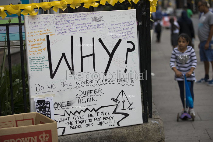 Why do we the working class have to suffer once again? Grenfell Tower Fire, West London - Jess Hurd - 2017-06-22