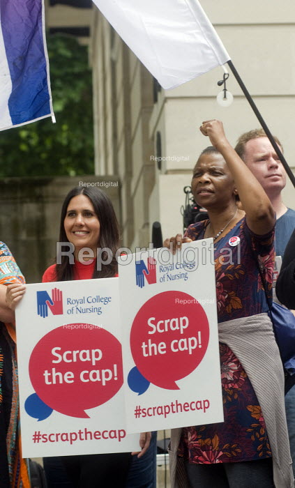 RCN Nurses beginning a summer of protest against pay restraint, protest at Department of Health, London, against the 1 government pay cap for public servants - Stefano Cagnoni - 2017-06-27