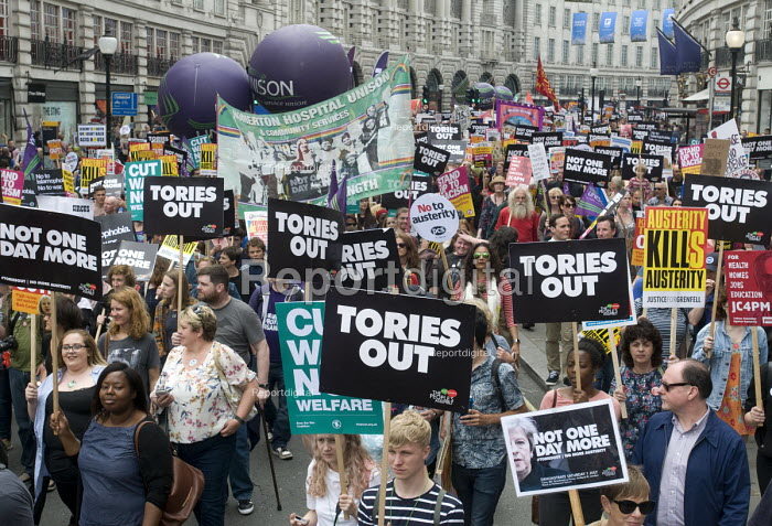 UNISON, Not One Day More protest demanding the Tory Government go and an end to austerity policies - Stefano Cagnoni - 2017-07-01