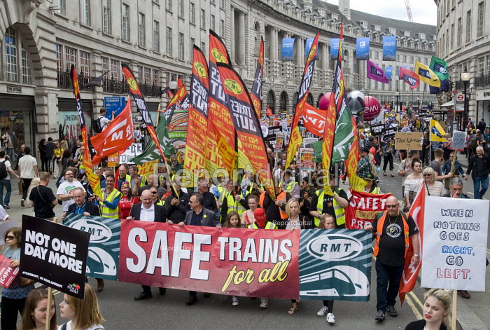 RMT, Not One Day More protest demanding the Tory Government go and an end to austerity policies - Stefano Cagnoni - 2017-07-01