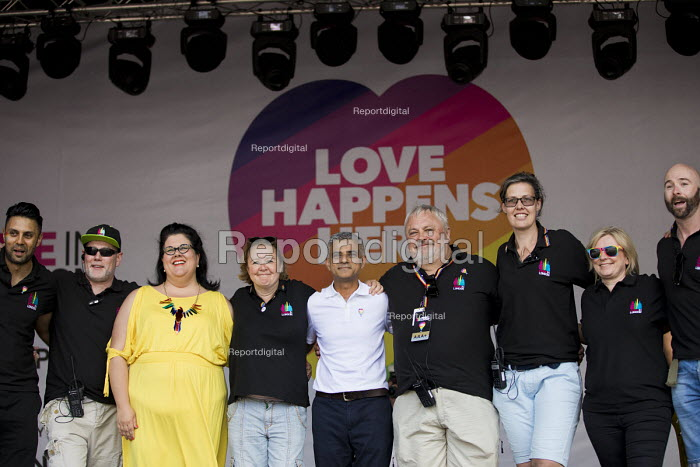 Pride Board and Mayor Sadiq Khan, Pride in London, Love Happens Here, Trafalgar Square, London. - Jess Hurd - 2017-07-08