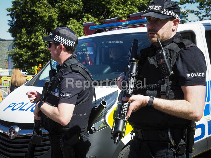 Armed Police, 2017 Durham Miners Gala, Durham - Mark Pinder - 2017-07-08