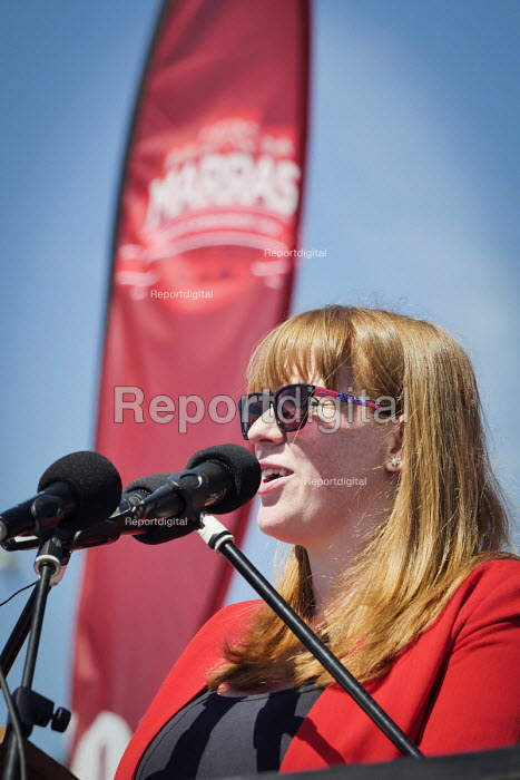Angela Rayner MP speaking Matt Wrack speaking, Durham Miners Gala, Durham 2017 - Mark Pinder - 2017-07-08
