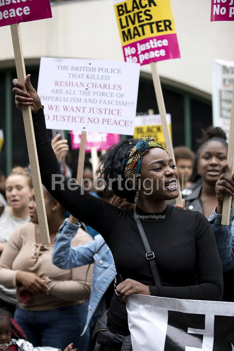 Justice for Rashan Charles protest, he died after being chased by police, Stoke Newington, London - Jess Hurd - 2017-07-24