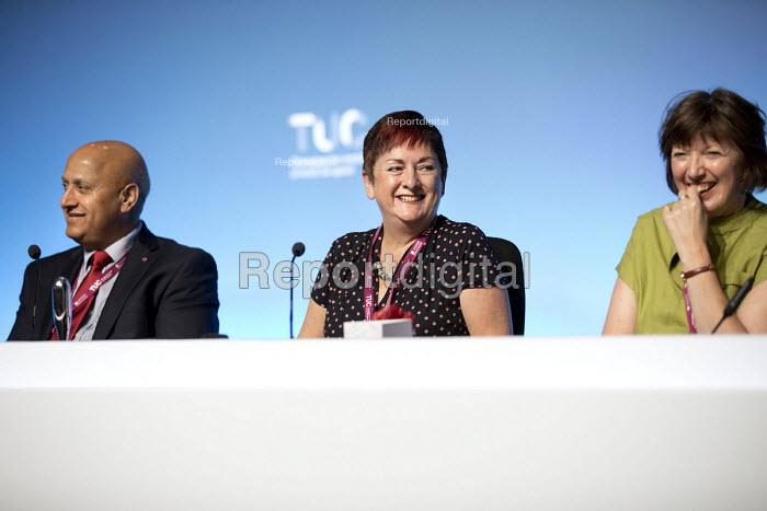 TUC President Mary Bousted NEU ATL speaking, Congress, Brighton 2017. - Jess Hurd - 2017-09-10