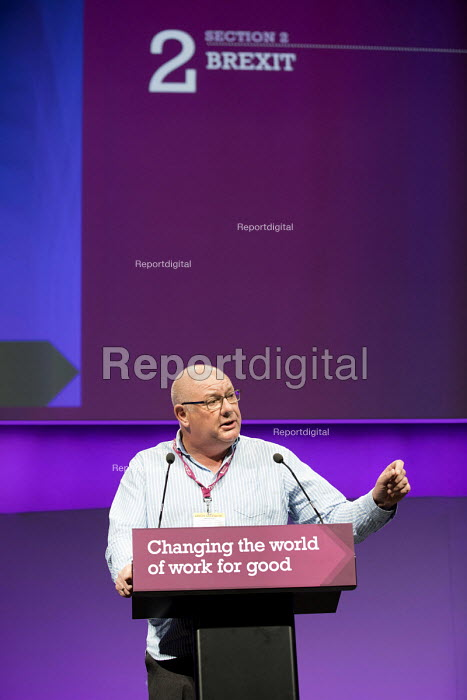 Dave Ward, CW speaking TUC Congress, Brighton 2017. - Jess Hurd - 2017-09-10