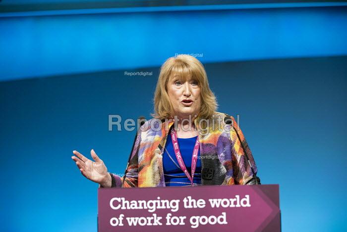 Glenys Wilmott, Labour Party Sororal Delegate speaking, TUC Congress, Brighton 2017. - Jess Hurd - 2017-09-10
