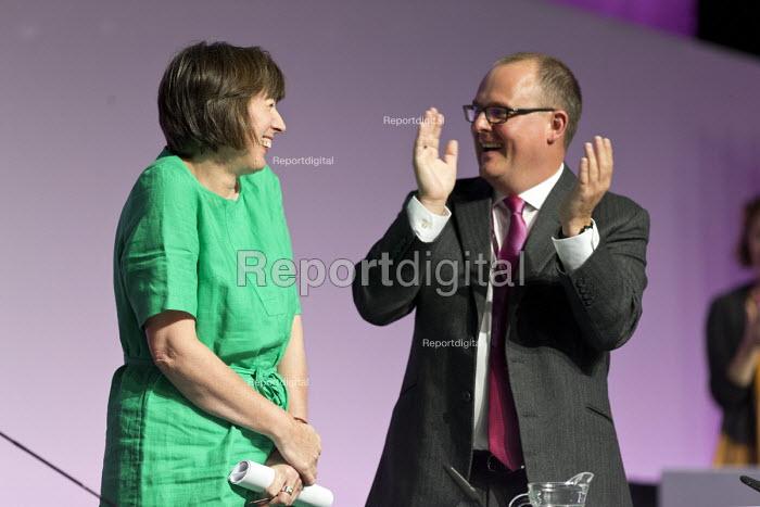 Frances OGrady TUC Gen Sec and Paul Nowak, TUC Congress Brighton 2017 - John Harris - 2017-09-11