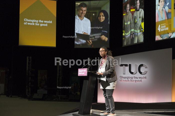 Michelle Codrington Rogers NASUWT speaking TUC Congress Brighton 2017 - John Harris - 2017-09-11