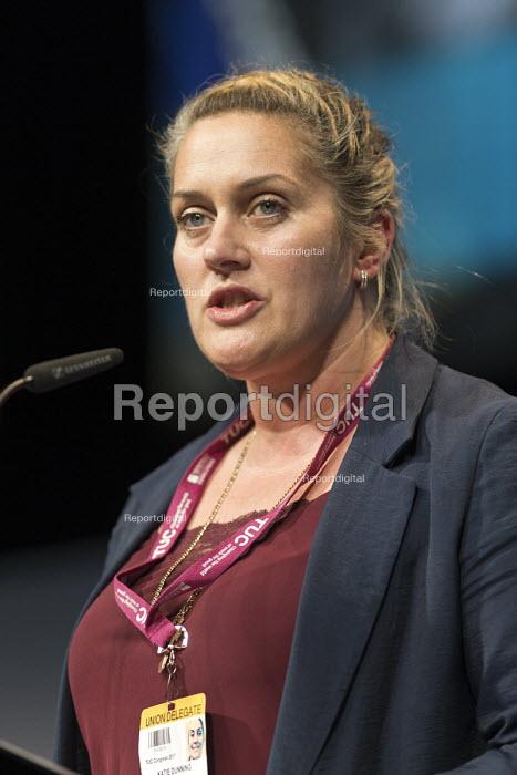 Kate Dunning CWU speaking TUC Congress Brighton 2017 - John Harris - 2017-09-11