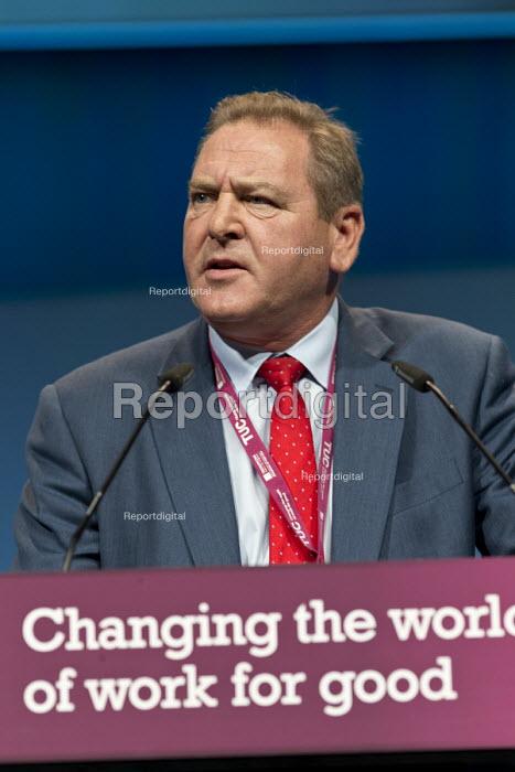 Andy Kerr CWU speaking TUC Congress Brighton 2017 - John Harris - 2017-09-12