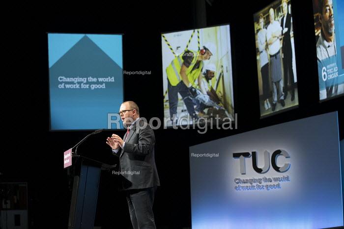Paul Nowak speaking TUC Congress, Brighton 2017 - Jess Hurd - 2017-09-14