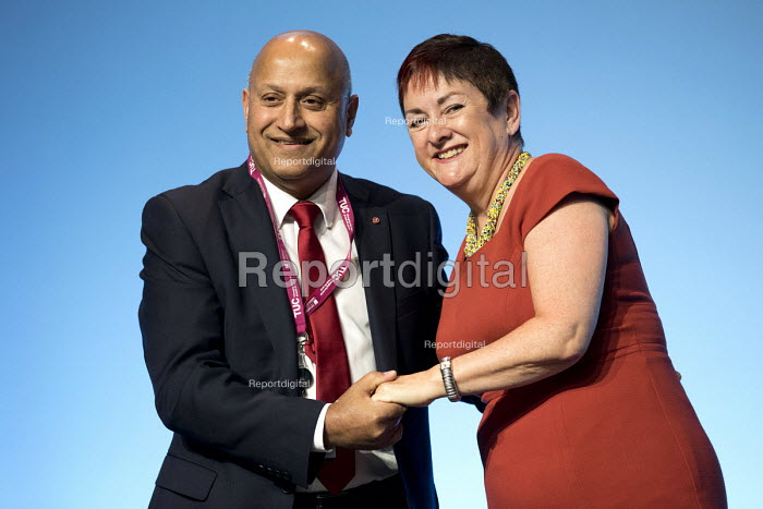 Mohammed Taj, UNITE and Mary Bousted TUC Congress, Brighton 2017 - Jess Hurd - 2017-09-13