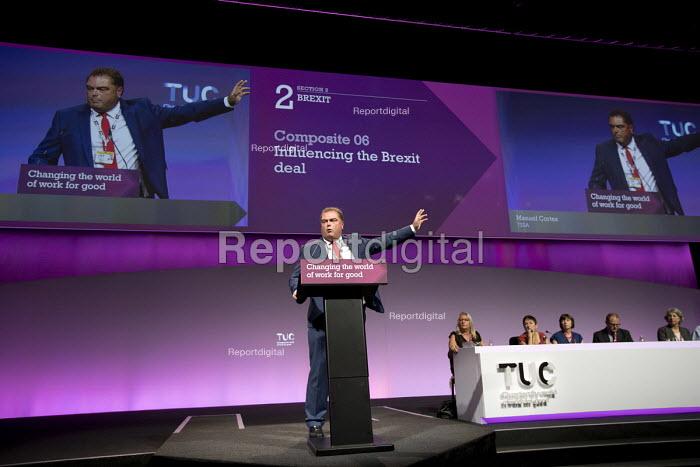 Manuel Cortez, TSSA speaking TUC Congress, Brighton 2017 - Jess Hurd - 2017-09-13