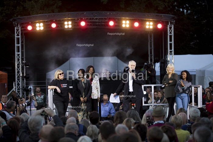 Jeremy Corbyn speaking, rally at the opening of Labour Party Conference, Brighton - Jess Hurd - 2017-09-23