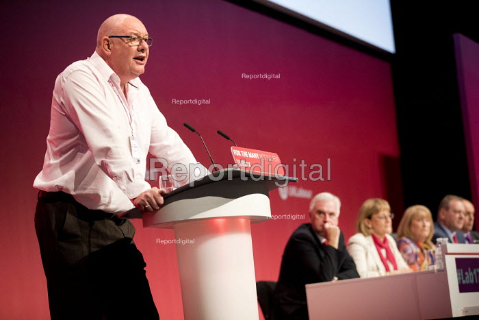 Dave Ward CWU speaking Labour Party Conference, Brighton 2017 - Jess Hurd - 2017-09-25