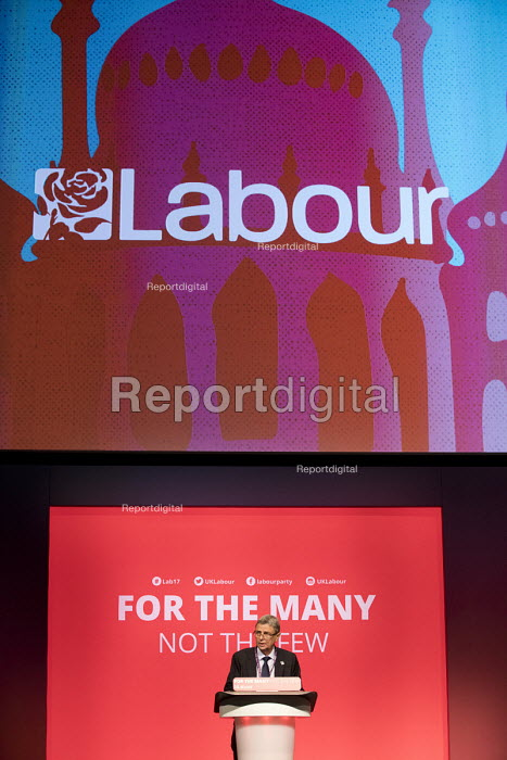 Dave Prentis, UNISON speaking Labour Party Conference, Brighton 2017 - Jess Hurd - 2017-09-25