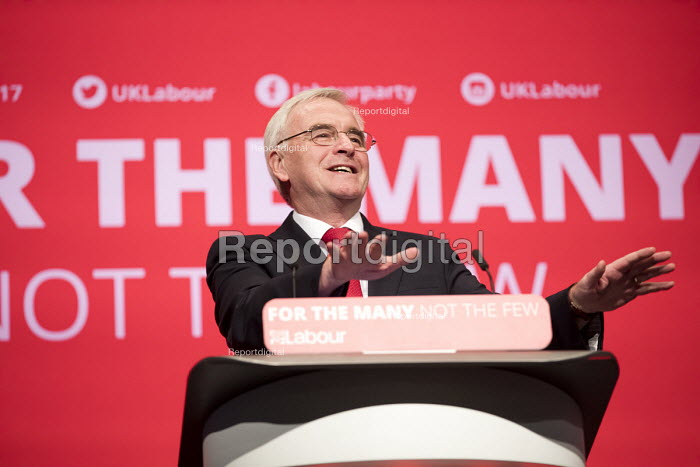John McDonnell speaking Labour Party Conference, Brighton 2017 - Jess Hurd - 2017-09-25