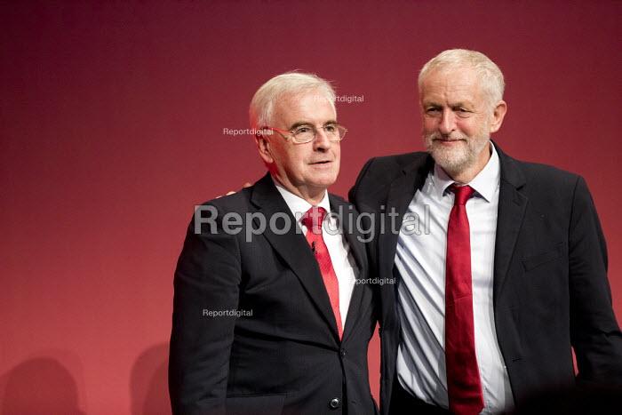 John McDonnell and Jeremy Corbyn Labour Party Conference, Brighton 2017 - Jess Hurd - 2017-09-25