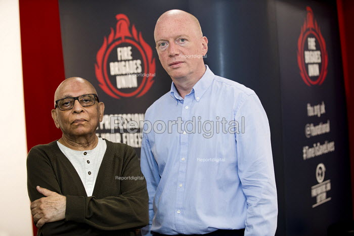 Matt Wrack with Karl Cosmo at the FBU stand, Labour Party Conference, Brighton 2017 - Jess Hurd - 2017-09-26