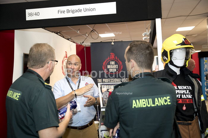 Ambulance workers at the FBU stand, Labour Party Conference, Brighton 2017 - Jess Hurd - 2017-09-26