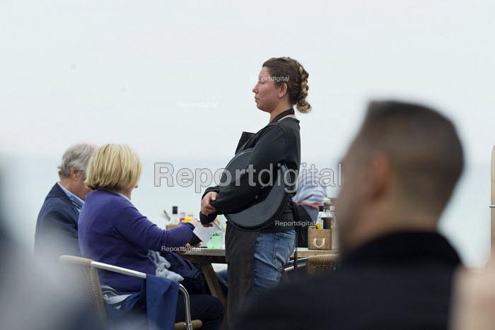 Waitress serving in a cafe, Brighton - John Harris - 2017-09-25