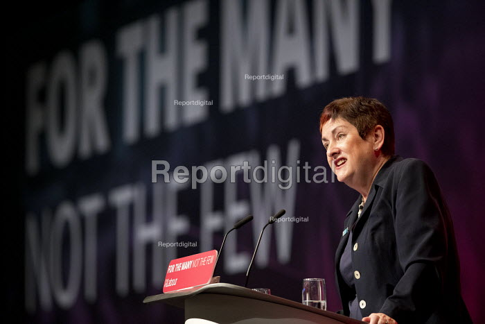 Mary Bousted, TUC & NEU speaking at Labour Party Conference, Brighton 2017 - Jess Hurd - 2017-09-26