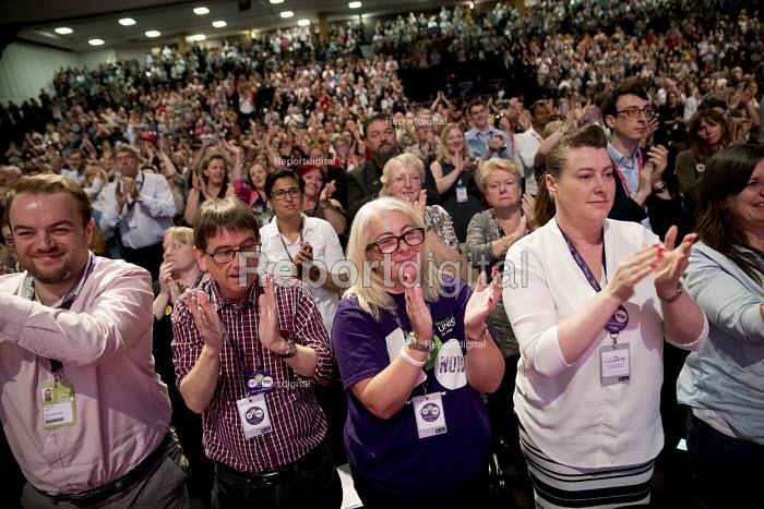 UNISON delegates standing ovation, Labour Party Conference, Brighton 2017 - Jess Hurd - 2017-09-26