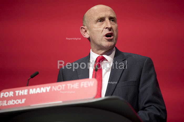 John Healey MP speaking Labour Party Conference, Brighton 2017 - Jess Hurd - 2017-09-26