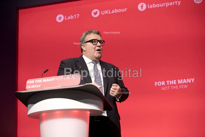 Tom Watson speaking Labour Party Conference, Brighton 2017 - Jess Hurd - 2017-09-26