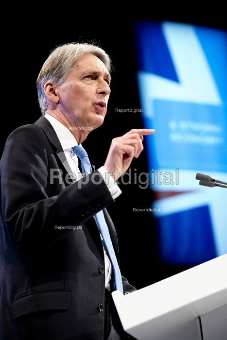Philip Hammond speaking Conservative Party Conference, Manchester 2017 - Jess Hurd - 2017-10-02