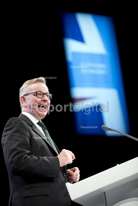 Michael Gove speaking Conservative Party Conference, Manchester 2017 - Jess Hurd - 2017-10-02
