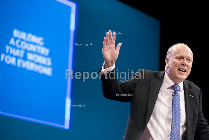Chris Grayling speaking Conservative Party Conference, Manchester 2017 - Jess Hurd - 2017-10-02