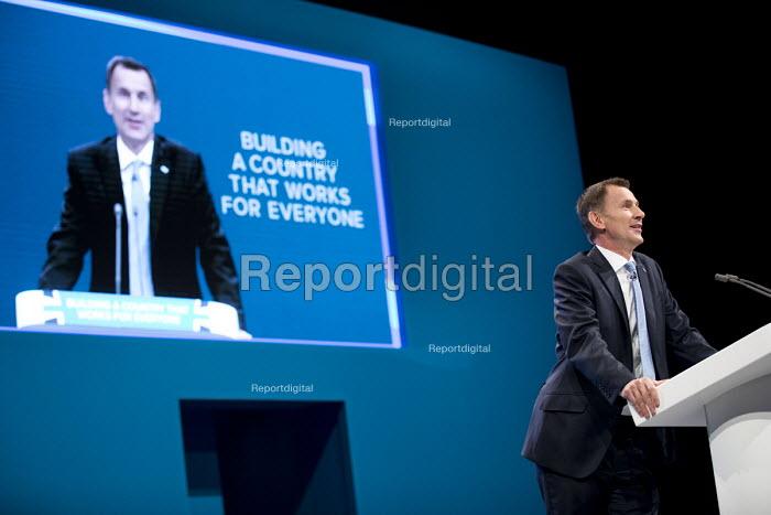 Jeremy Hunt speaking Conservative Party Conference, Manchester 2017 - Jess Hurd - 2017-10-03