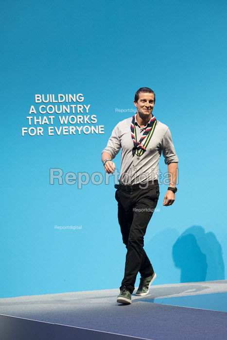 Chief Scout Bear Grylls speaking Conservative Party Conference, Manchester 2017 - Jess Hurd - 2017-10-03