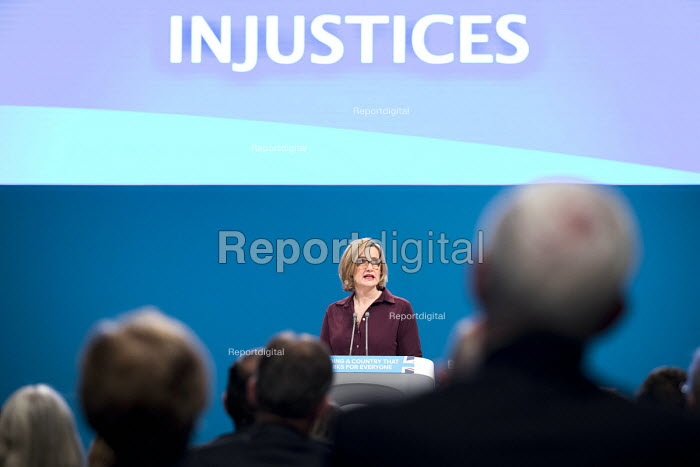 Amber Rudd speaking Conservative Party Conference, Manchester 2017 - Jess Hurd - 2017-10-03